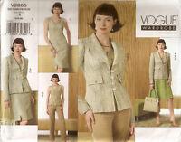 Misses Vogue WARDROBE Pattern V2865 Jacket Top Dress Skirt Pants 6 8 10 NEW