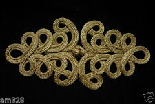 MR153 Gold Metallic Cord Loopy Fastener Frog Closure Knot Button/Buckle