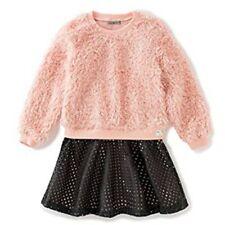 Calvin Klein Kinder Mädchen Kleid Plüsch Top Pullover mit Rock Girls  104
