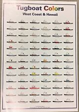 Tugboat  Colors West Coast and Hawaii poster 1997