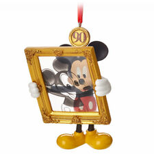 Disney Limited Mickey Mouse 90th Legacy Sketchbook Christmas Ornament Figurine