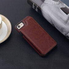 Luxury Flip Leather Card Wallet Case Shockproof Back Cover for iPhone 5 6 7 Plus