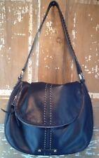 Gorgeous Navy Blue Leather B. Makowsky Shoulder Bag Purse