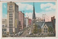 Woodward Avenue North. Detroit Michigan. Vintage Postcard 1932, *Free Shipping*