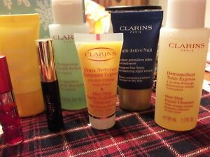 Clarins Best Selling samples and travel products. Assortment of 12 products