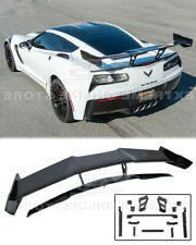 ZR1 Style Full Rear Wing Spoiler For 14-19 Corvette C7 Z06 Painted CARBON FLASH