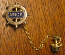 Nmca National Marine Charter Assoc Lapel Pin w/Anchor Dangle Excellent Condition