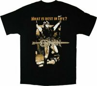 Adult Black Adventure Film Conan the Barbarian What is Best in Life? T-shirt Tee