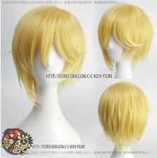 Gravity falls Red Bill Cipher Human Cosplay wig costume yellow