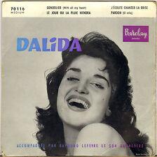 "DALIDA ""GONDOLIER"" 50'S EP BARCLAY 70 116 pochette glacée !"