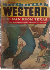 BLUE RIBBON WESTERN pulp magazine August 1948