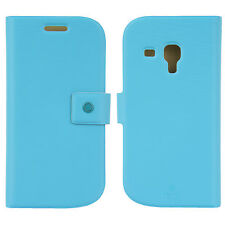 FENICE Diario Samsung Galaxy S III Mini Premium Italian PU Leather Case - Blue
