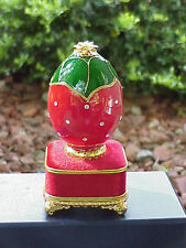 REAL Decorated Goose Egg Anniversary/Birthday/ Strawberry Music Gift Box Summer