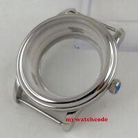 40mm solid Steel sapphire glass watch Case 2824 2836 Miyota 8205 8215 Movement