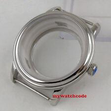 40mm solid Steel sapphire glass watch Case ETA 2824 2836 Miyota 8215 Movement
