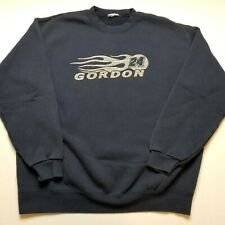 Jeff Gordon Mens Sweatshirt XL Nascar Spell Out Blue #24 Racing Pullover I33
