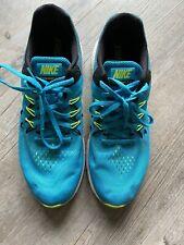 Nike Zoom Winflo 2 Entrenadores Azul Amarillo SIZE UK 9.5 apenas usado