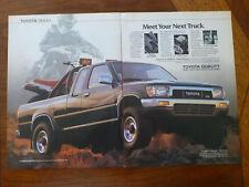 1988 1989 1987 TOYOTA SR5 4x4 V6 Xtracab pickup truck 2 page Hilux magazine ad