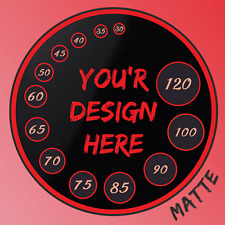 13 sizes Personalised Custom printed round stickers, labels, logo, text, design