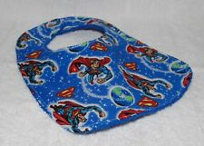 Handmade Superman Baby Bib 100% cotton Terry Cloth Backing
