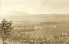 Creswell OR Birdseye View c1910 Real Photo Postcard #2