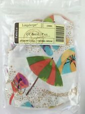 Longaberger Collector's Club Small Pail Basket LINER ONLY Spring Break NIB