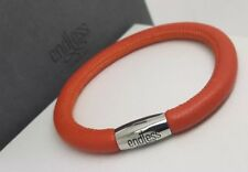 Authentic ENDLESS JEWELRY Coral Leather Single Wrap Charm Bracelet 19cm NEW