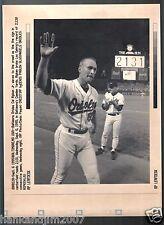 Cal Ripken Jr 2131 Game Sept 6 1995 Vintage A/P Laser Wire Photo with caption