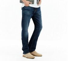 True Religion RICKY RELAXED STRAIGHT Flap W33 L32 Mens Blue Stretch Denim Jeans