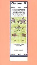 Houston Oilers at Dallas Cowboys 1997 ticket stub TOPPS NFL HOF Emmitt Smith REG