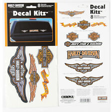 ORIGINALE Harley Davidson HD LOGO EMBLEMA ADESIVO DECAL STICKER KIT SET 8 pezzi