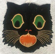Vintage Beistle Large Halloween Black Cat Embossed Die-Cut Decoration 1930's