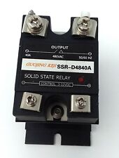 Solid state relay SSR-D4840A control 3-32vdc 40a 480vac output w/ heatsink USED