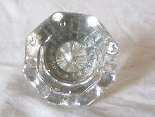 single vintage door knob clear cut glass octagon handle pull hardware antique