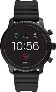 Fossil FTW4018 Men's Gen 4 Explorist HR Silicone Touchscreen Smartwatch - Black