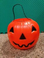 Empire Blow Mold Halloween Jack O Lantern Pumpkin Trick Treat Bucket Pail 7""