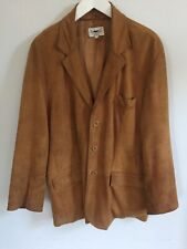 JUST LEATHERS THREE BUTTON SUEDE JACKET - XL