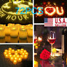 72X Flameless Votive Candles Battery Operated Flickering LED Tea Light USA