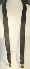 bretelles en daim et cuir stras SONIA RYKIEL vintage taille  unique