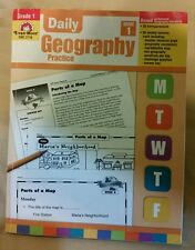 DAILY GEOGRAPHY PRACTICE GRADE 1 EMC-3710 VERY GOOD Condition  -010-