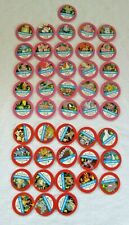 1998 Pokemon Master Trainer Board Game 26 Pink/18 Red  Chips Pogs (Parts)