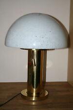 XXL Glashütte Limburg  Lampe Tischlampe Pilzlampe Mushroom Lamp Pilz Messing