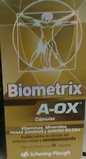 BIOMETRIX A- OX Antioxidants + Ginseng and Ginko Biloba - 30 CAPSULES -FREE SHIP