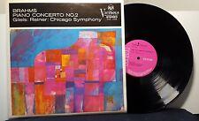 Brahms Concerto No. 2 GILELS Reiner Chicago Symphony Orchestra vinyl LP UK