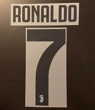 Flocage Cristiano Ronaldo #7 Juventus. Name Set. Home 2018 2019.