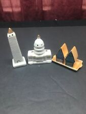 Vintage US Capital & Washington Monument & 2 Houses On TraySalt & Pepper Shakers