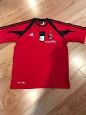 Adidas AC Milan Training Shirt Size L BNWT Red 369262 Rare Cotton Blend Soccer