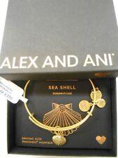 Alex and Ani Sea Shell II Bangle Bracelet Rafaelian Gold NWTBC