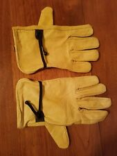 Mens Genuine Leather yellow fashion driving Driving Gloves made in India size L