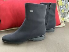 Luftpolster Gore-Tex Black Booties Size 9.5 Waterproof Heels Ankle Boots
